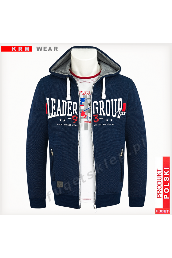 Bluza rozpinana LEADER GROUP GDS indygo