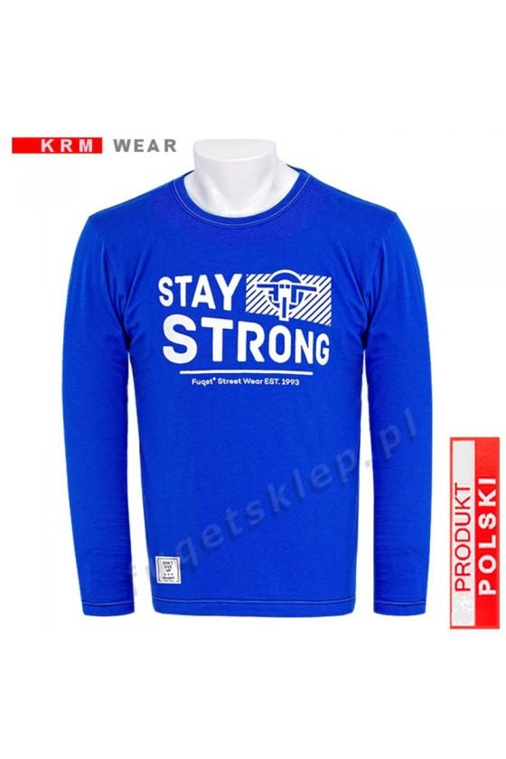 Longsleeve FUQET STAY STRONG 2 niebieski