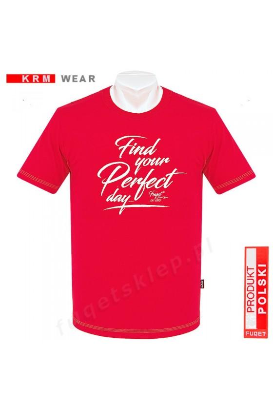 Koszulka PERFECT DAY  M czerwona