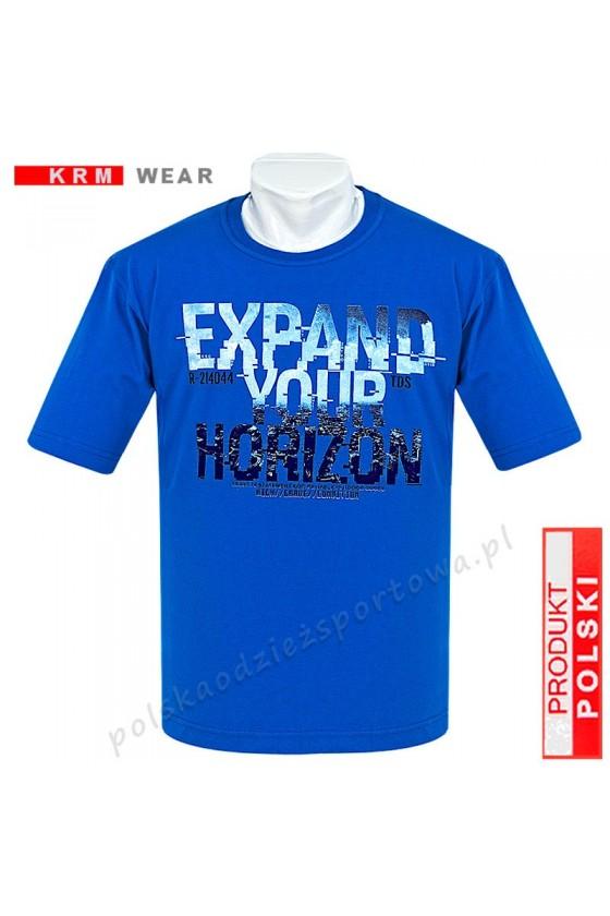 Koszulka Sportowa TS HORIZON niebieska