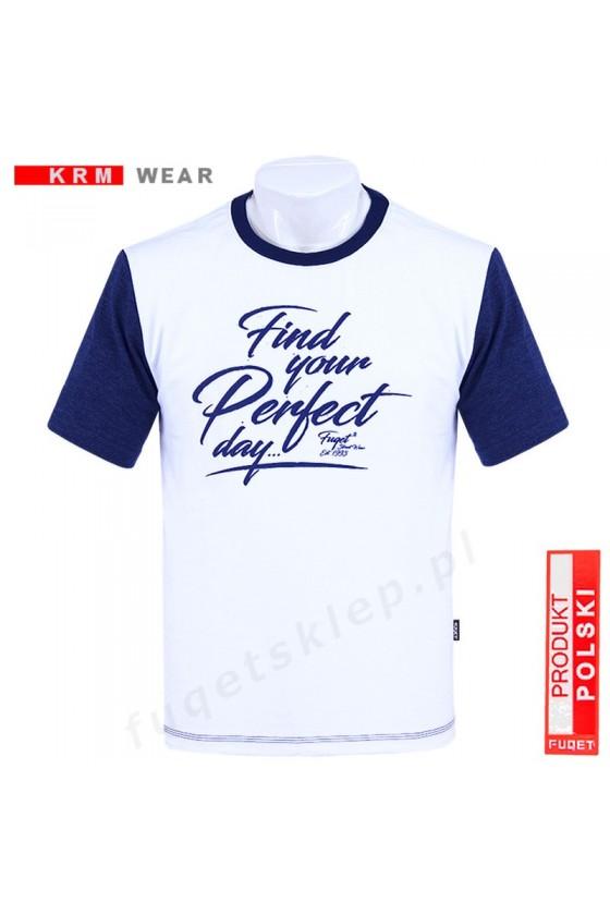 Koszulka PERFECT DAY  M  biała/granat