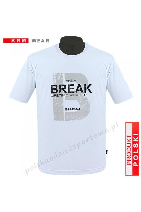 Koszulka Sportowa TS BREAK biała