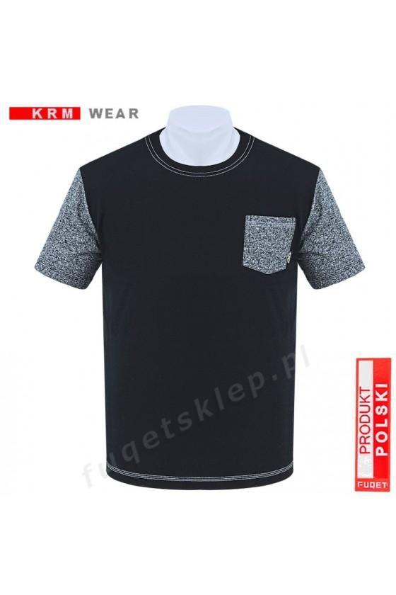 Koszulka kieszonka  M czarna