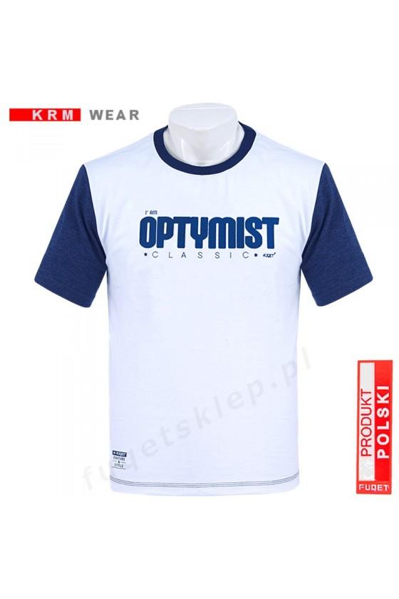 Koszulka OPTYMIST DS biała/jeans