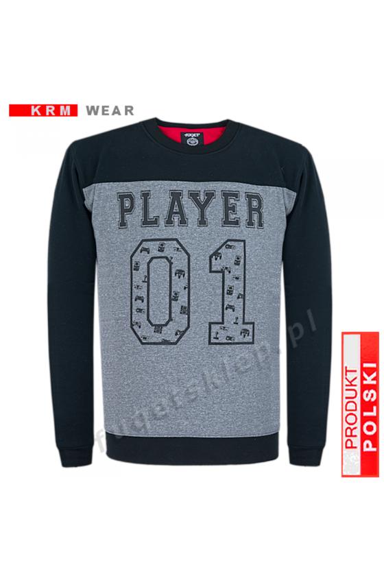Bluza PLAYER  GM czarna/fantazja/