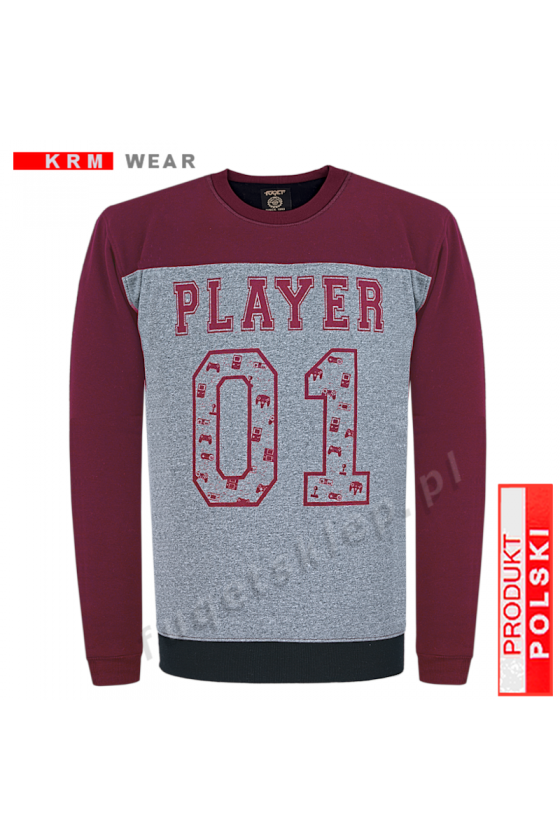 Bluza PLAYER  GMD fantazja/ bordo