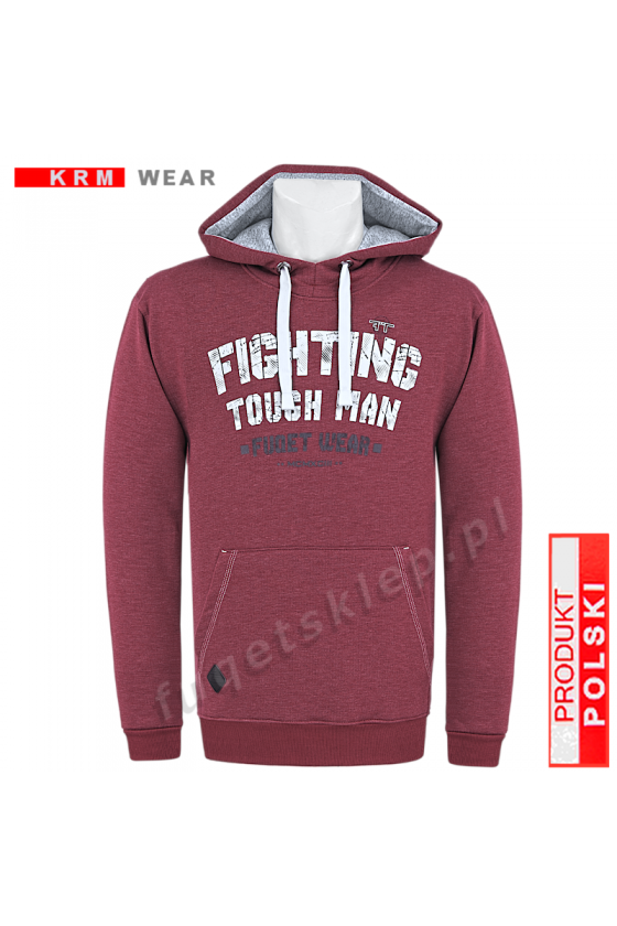 Bluza kangurka FIGHTING  GMD bordo