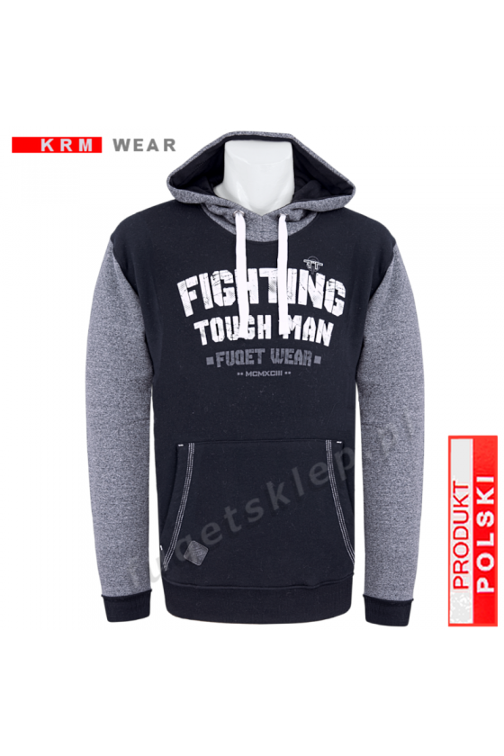 Bluza kangurka FIGHTING  GMD czarna