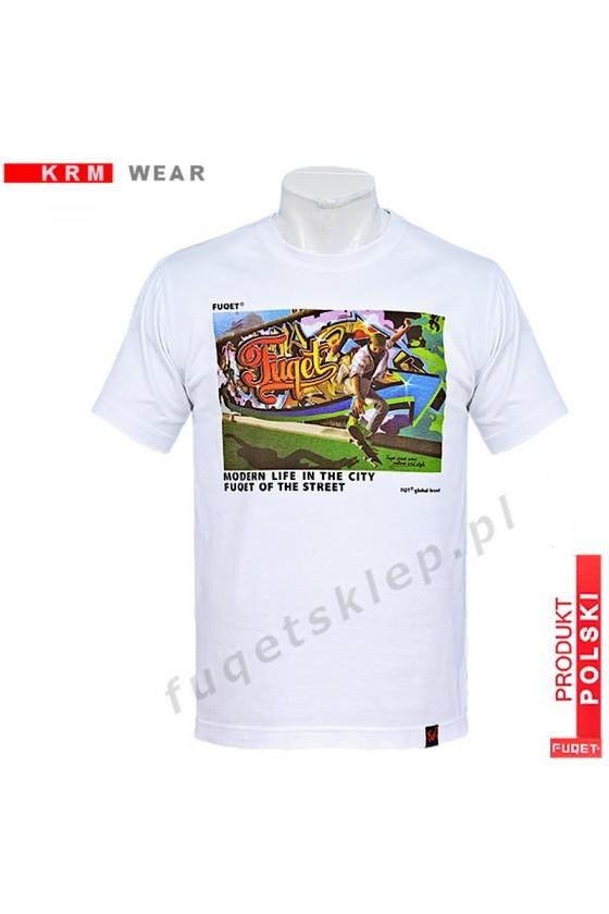 Koszulka FUQET GRAFFITI-M biała