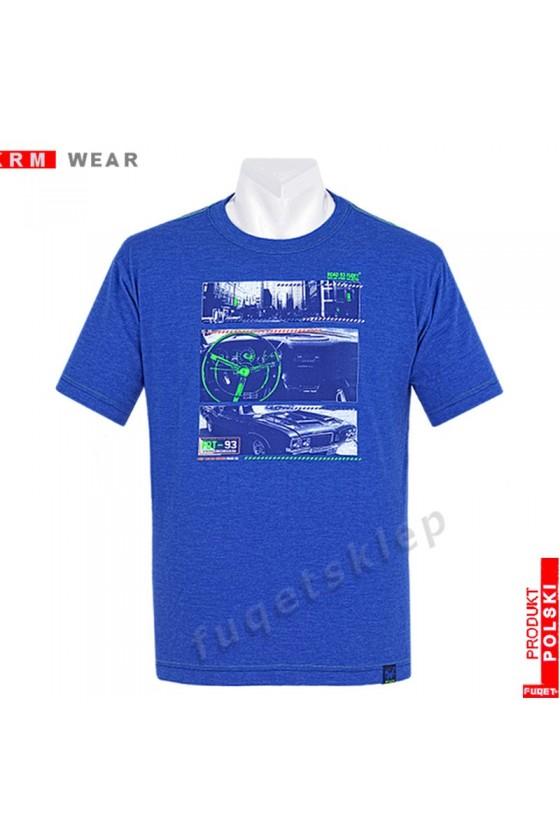 Koszulka FUQET  ROAD DS niebieski mel.