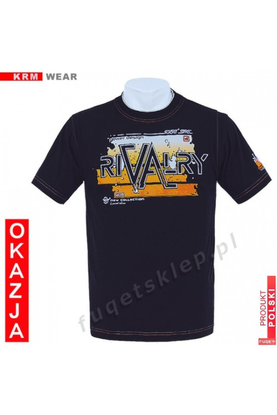 Koszulka FUQET RIVALRY DS czarny/orange