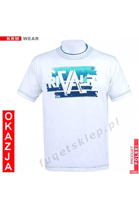 Koszulka FUQET RIVALRY DS biała/nieb.