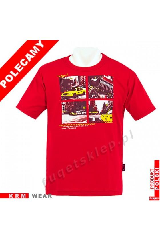 Koszulka FUQET -  TAXI -DS czerwony
