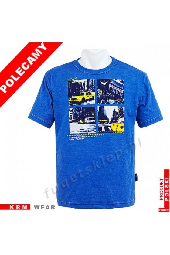 Koszulka FUQET -  TAXI -DS niebieski mel.