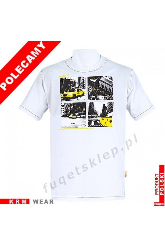 Koszulka FUQET -  TAXI -DS biały