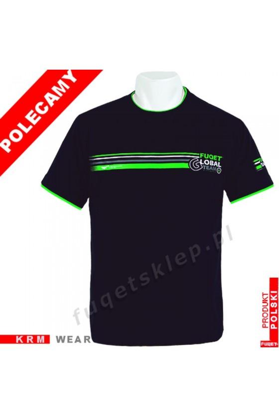 Koszulka FUQET - GLOBAL TEAM - DS czarna/ziel.