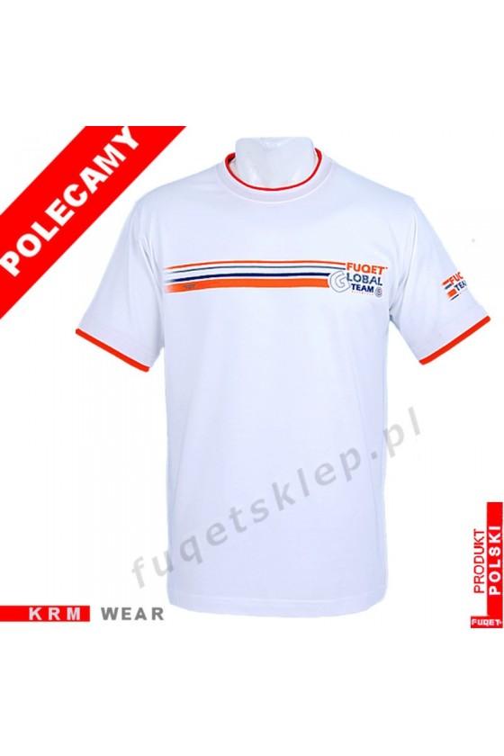 Koszulka FUQET - GLOBAL TEAM - DS biała/orange