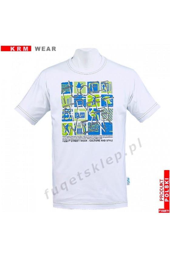Koszulka FUQET FRACTALE -DS biała