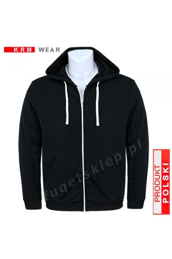 Bluza sportowa kaptur expr. BIG SX MD G czarna 100% bawełna