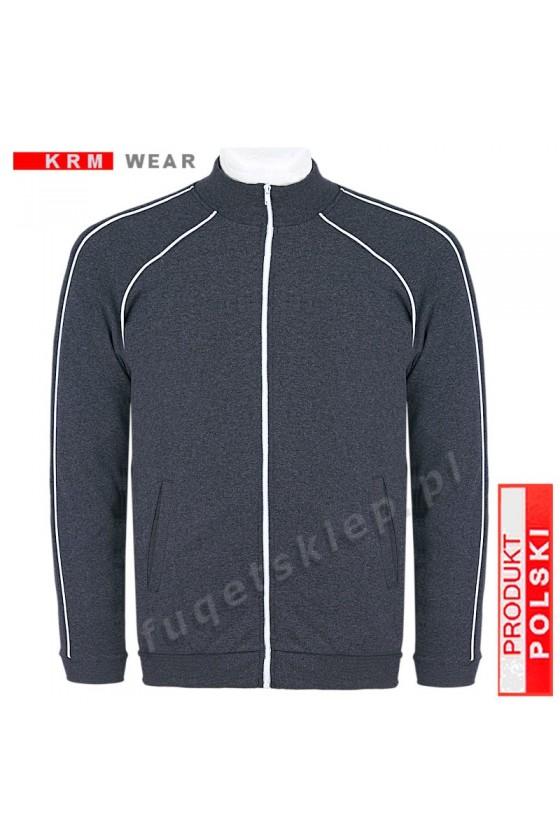 Bluza sportowa expr. BIG  SX MD G antracyt 100% bawełna