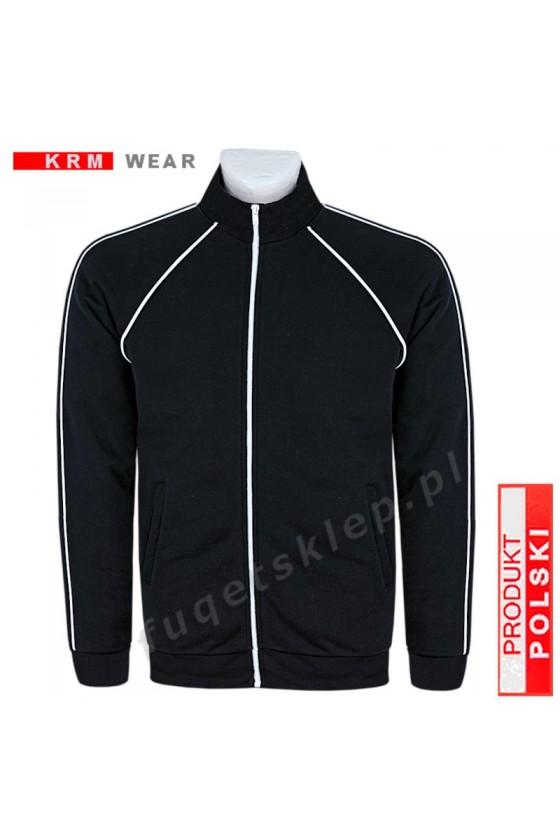 Bluza sportowa expr. BIG  SX MD G czarna 100% bawełna