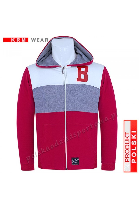 Bluza rozpinana TS 3-kolory DSP czerwona