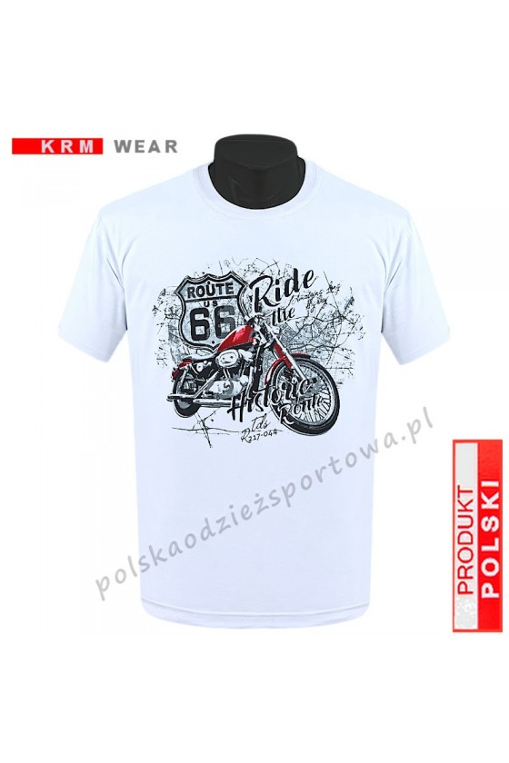 Koszulka  sportowa TS - DS ROUTE 66 biała