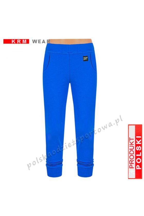 Spodnie TSP SPORT  ściągacz niebieskie