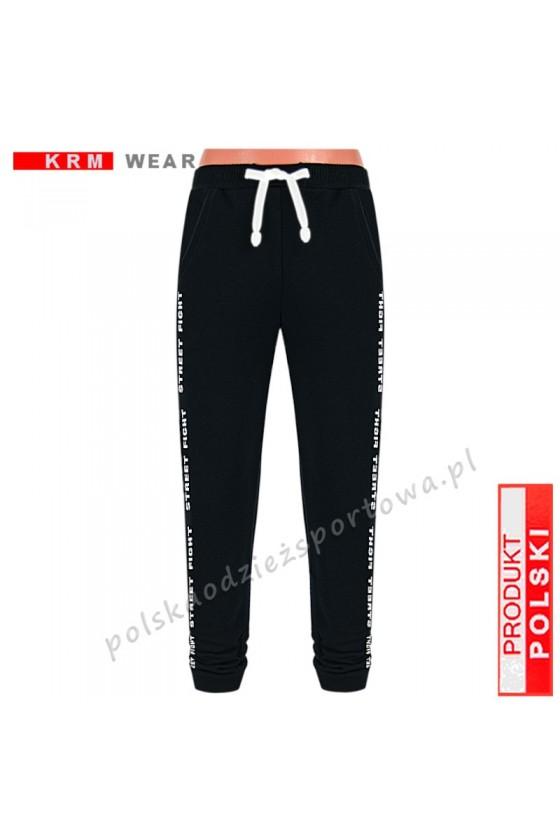 Spodnie  STREET P slim czarne